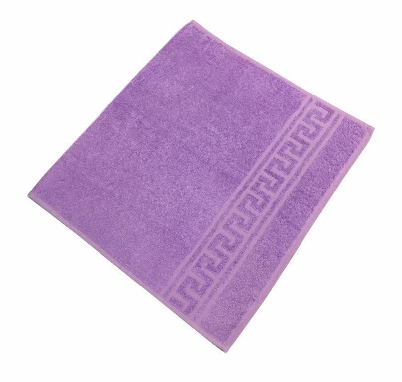 Махровое гладкокрашенное полотенце 50*90 см 380 г/м2 (Насыщенная сирень)