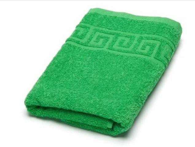 Махровое гладкокрашенное полотенце 40*70 см 380 г/м2 (Ярко-зеленый)