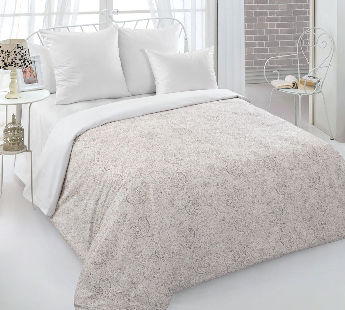 Комплект постельного белья Евростандарт, перкаль (Музыка времени)