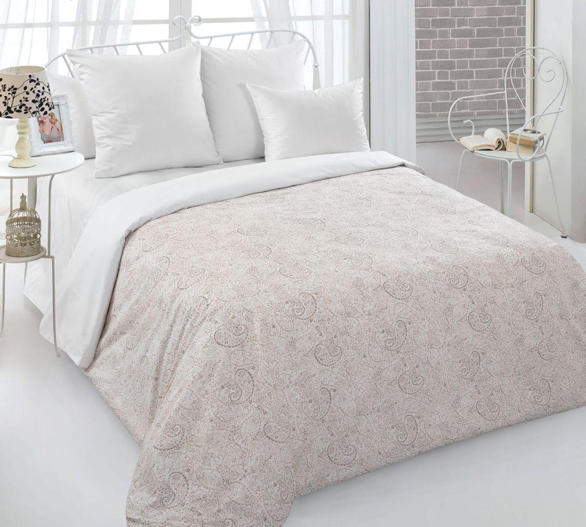 Комплект постельного белья 2-спальный с Евро простыней, перкаль (Музыка времени)