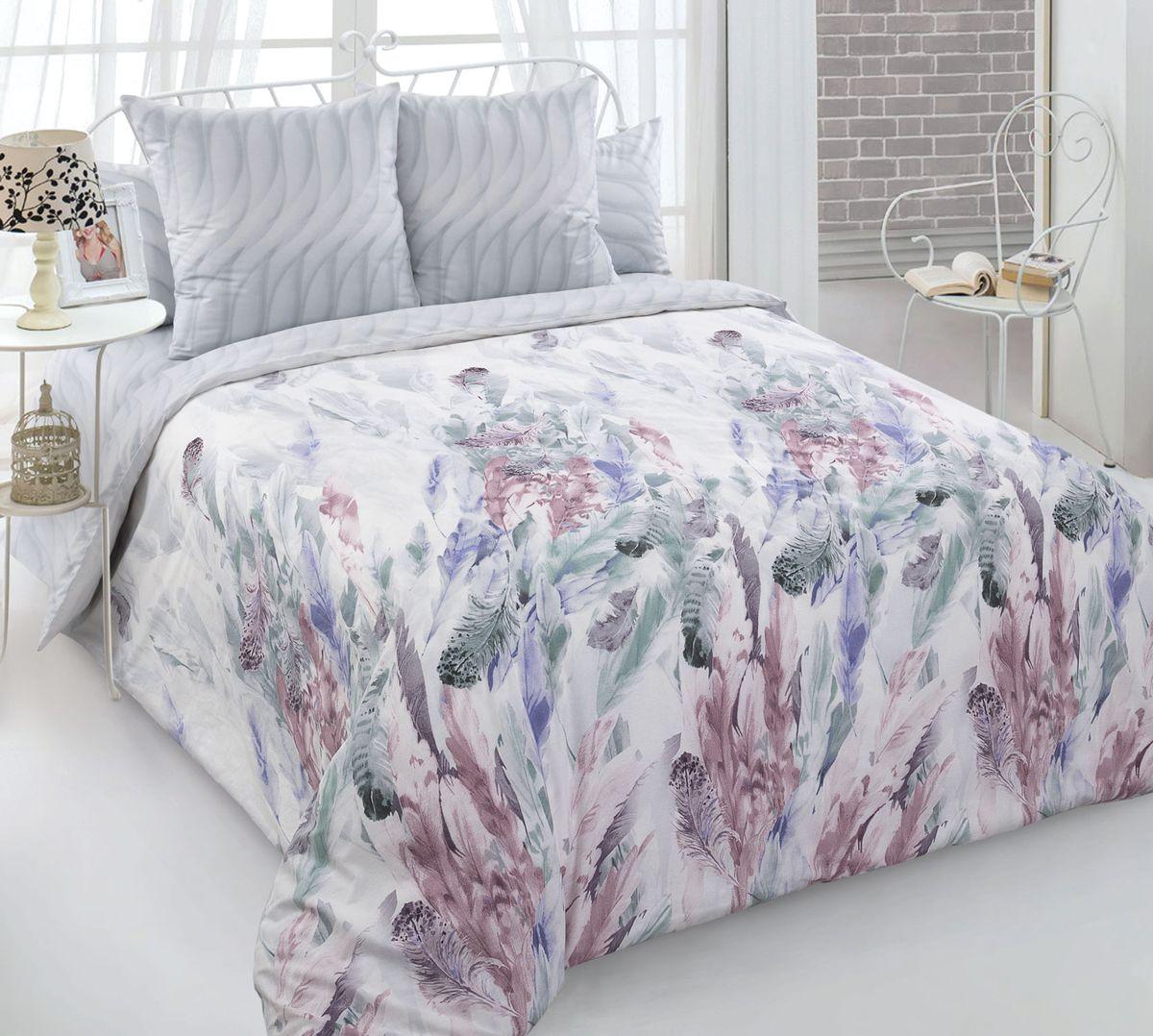 Комплект постельного белья 2-спальный с Евро простыней, перкаль (Легкость)