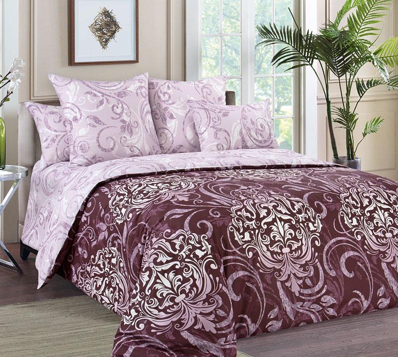 Комплект постельного белья 2-спальный с Евро простыней, перкаль (Гранд)