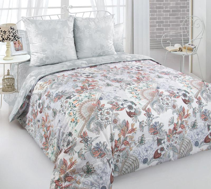 Комплект постельного белья 2-спальный, перкаль (Шелковый веер)