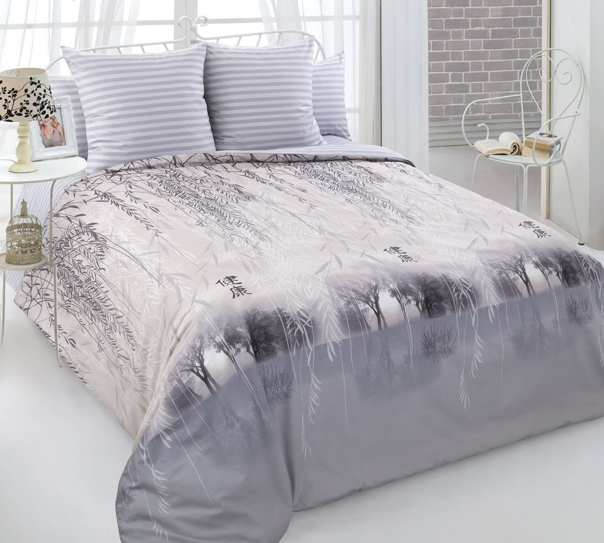 Комплект постельного белья 1,5-спальный, перкаль (Умиротворение)