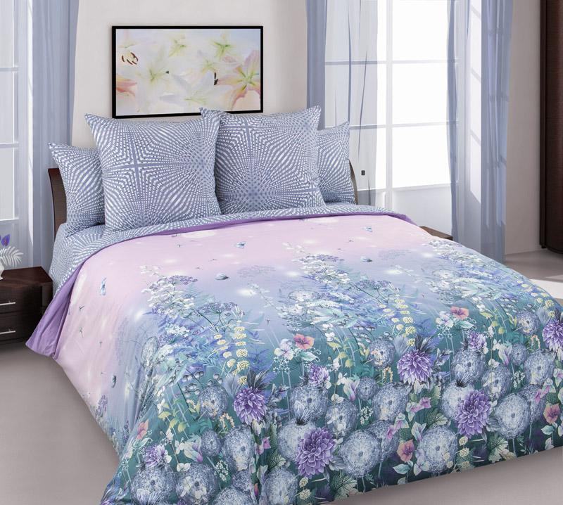 Комплект постельного белья 1,5-спальный, перкаль (Теплый вечер)