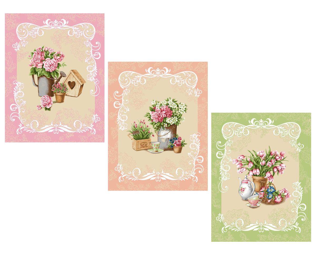 Комплект вафельных полотенец 48*60 см, 3 штуки (Ля Рошель)
