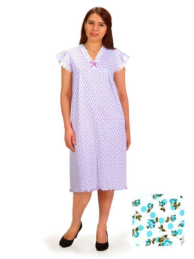 Сорочка ночная женская,мод. 427, трикотаж (Серпантин (бирюзовый))