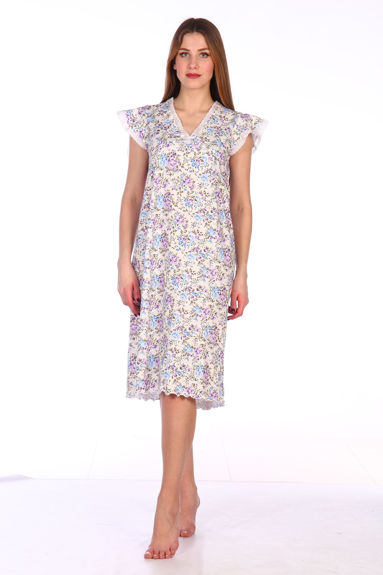 Сорочка ночная женская,мод. 427, трикотаж (Прелесть (сиреневый))