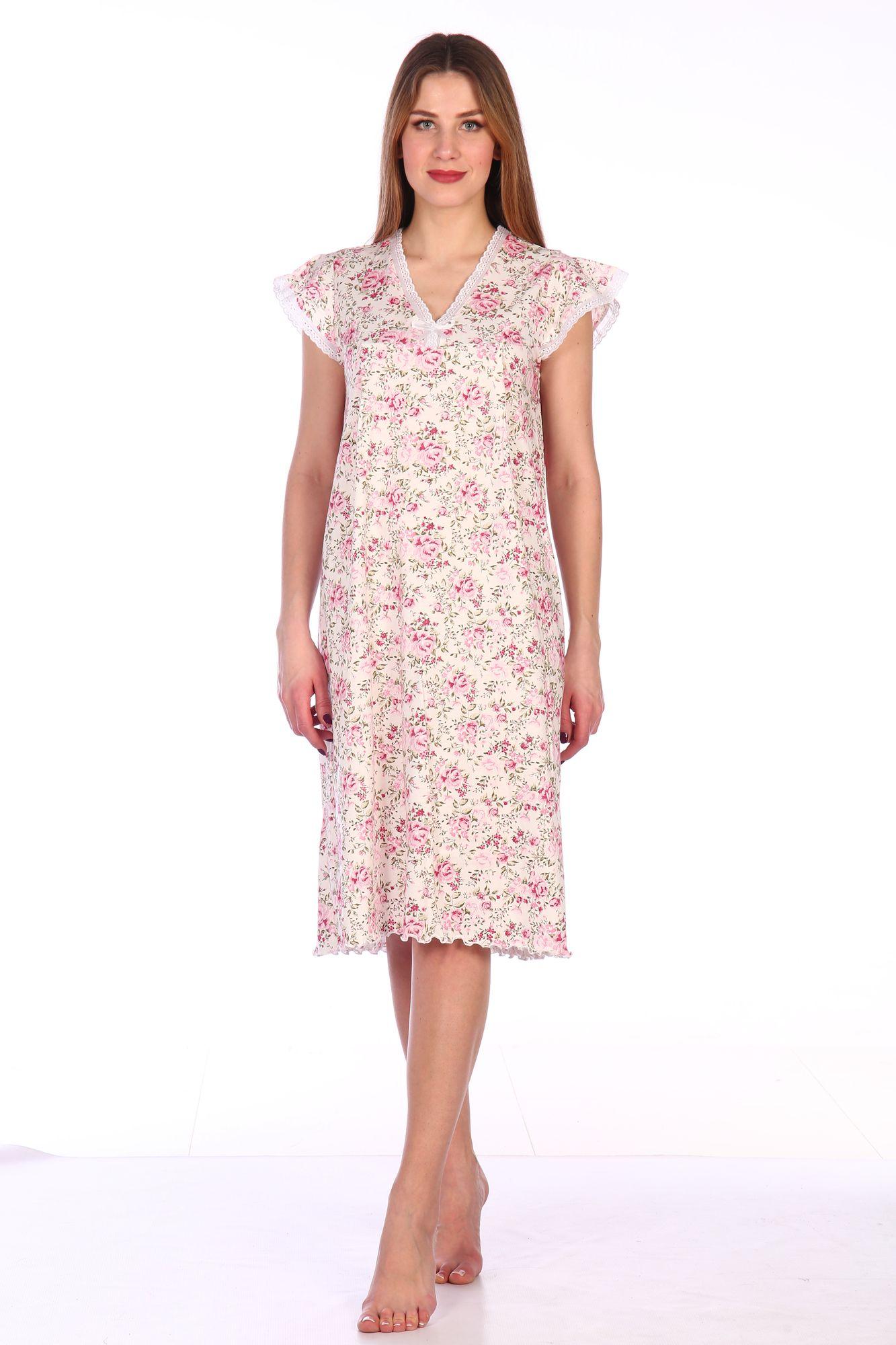 Сорочка ночная женская,мод. 427, трикотаж (Прелесть (розовый))
