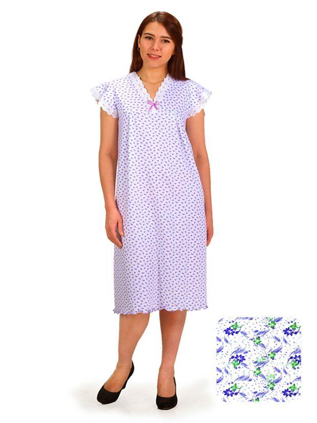 Сорочка ночная женская,мод. 427, трикотаж (Дуновение (сиреневый))