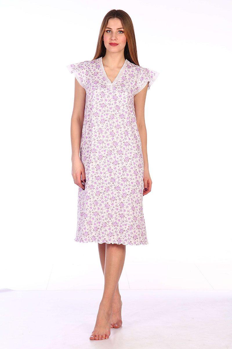 Сорочка ночная женская,мод. 427, трикотаж (Танго (сиреневый))