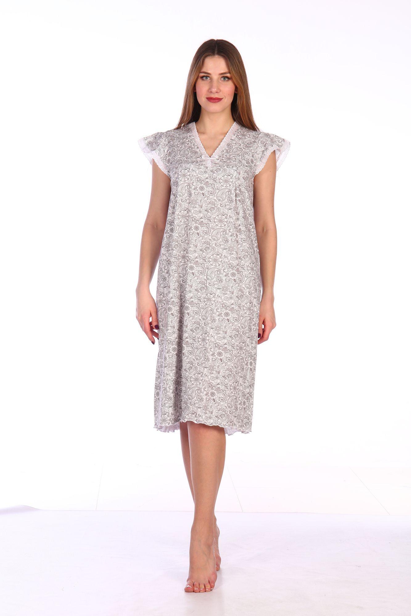 Сорочка ночная женская,мод. 427, трикотаж (Восточный мотив)