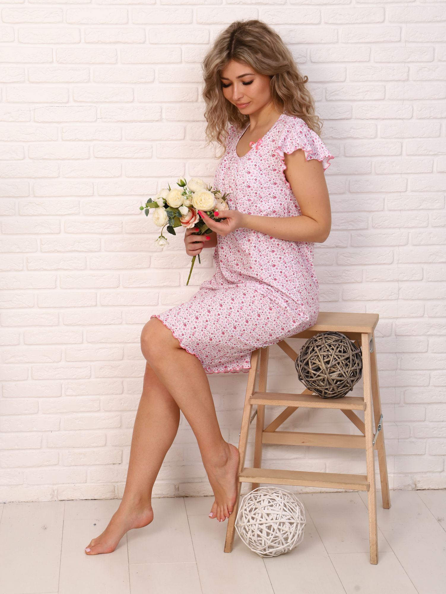 Сорочка ночная женская,мод. 426,трикотаж (Кармен, розовый )