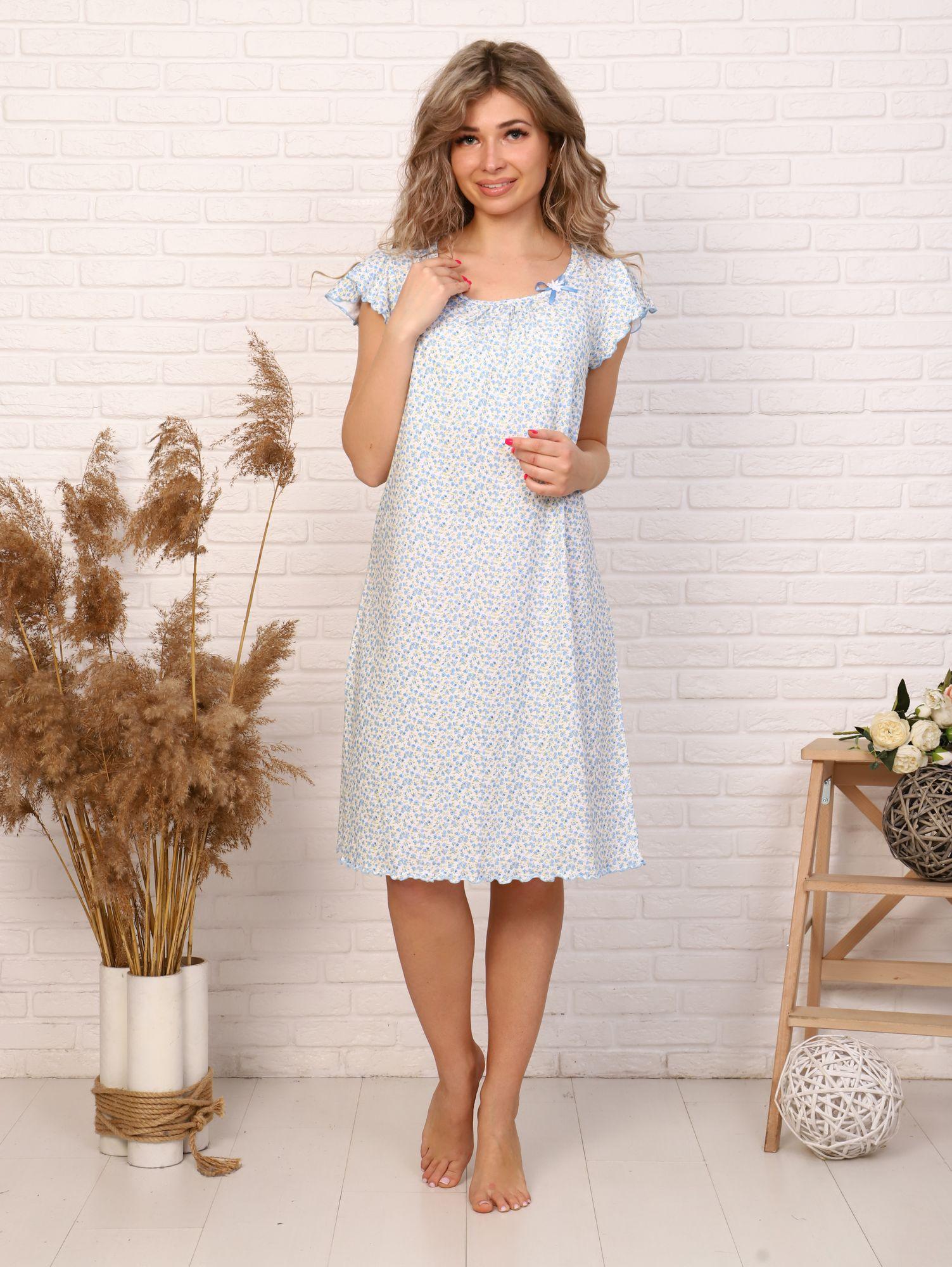 Сорочка ночная женская,мод. 426,трикотаж (Умиление (бирюзовый)  )