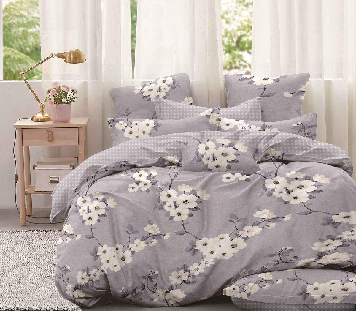Комплект постельного белья Евростандарт, поплин (Моника)